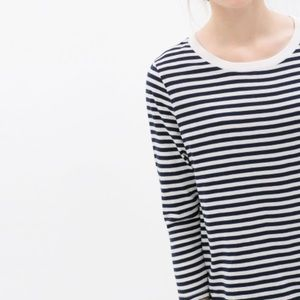 COS Striped 3/4 Sleeve Top